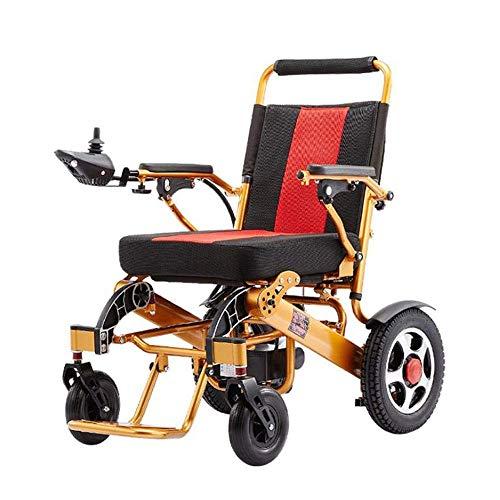 Inicio Accesorios Ancianos Silla de ruedas eléctrica plegable con luz eléctrica y fácil de transportar Silla de ruedas plegable para ancianos y discapacitados Silla de ruedas inteligente automática