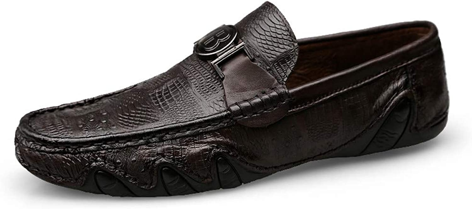 Men's shoes Casual Comfort Loafers & Slip-Ons Flat Loafers Comfort Lazy Business shoes Spring, Autumn,C,39