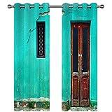 Cortinas Opacas De Microfibra Cortina Gruesa De Doble Capa para Balcón, Dormitorio Y Baño Protege Eficazmente La Privacidad Personal