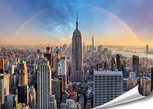 PMP 4life. XXL Poster für Ihr Zuhause, Wanddeko für das Wohnzimmer Schlafzimmer Küche usw. (XXL Poster | 140 cm x 100 cm, New York Skyline)