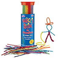 Sensory Fidget Toy, Arts and Crafts for Kids, Non-Toxic, Waxed Yarn, 6 inch, Reusable Molding and Sculpting Sticks, American Made by Wikki Stix, Assorted Colors, 24 Pack,Multi.
