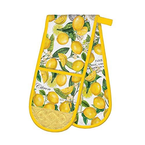 Michel Design Works Double Oven Glove, Lemon Basil