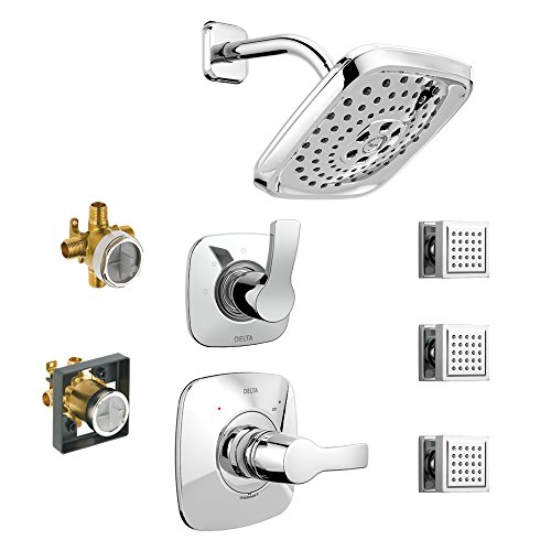 Affordable Delta KS14252-DRB15-CH KS14252-DRH55-CH Tesla 14 Series Shower Kit with Hand Shower and R...
