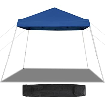 Amazon Com Quik Shade Go Hybrid 6 X 6 Sun Protection Pop Up Compact And Lightweight 7 X 7 Base Slant Leg Backpack Canopy Sports Outdoors
