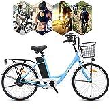 MRMRMNR 36V 250W Bicicleta Adulto Ciclomotor Eléctrico De Ciudad Masculino Y Femenino Hombres Bicis Electricas Mujer, 3 Modos De Conmutación, Batería Extraíble, Pantalla LED