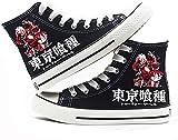 Tokyo Ghoul Moda Estudiantes Anime Cartoon Cosplay Cos Cómodo Casual Lona Zapatos Hombres Y Mujeres-B_8.5UK