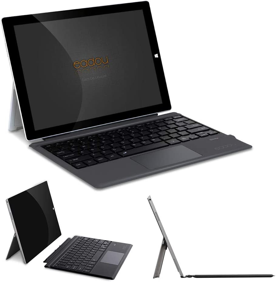EADOU Microsoft Surface Pro Type Cover-Surface Pro7 Keyboard case-Pro6/Pro2017/Pro4/Pro3-Portable Bluetooth Wireless Keyboards with Touchpad -12.3 inch(KB6212G)