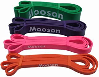 Mooson Heavy Duty Resistance Bands Popular Pull Up Assist Bands Durable Compact Size Exercise Bands with Instruction Guide Bag for Resistance Training Physical Home Yoga Workouts Therapy in/Outdoor