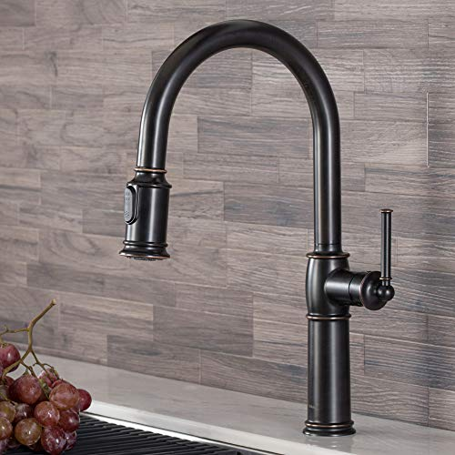 Kraus KPF-1682ORB Sellette Single Handle Pull-Down Kitchen Faucet, Traditional Style Oil Rubbed Bronze