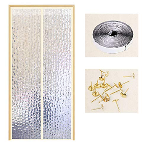 QIANC Airconditioning, isolerend gordijn, magnetron, eva-materiaal, anti-rook, anti-muggen, wind, stof, waterdobbelstenen