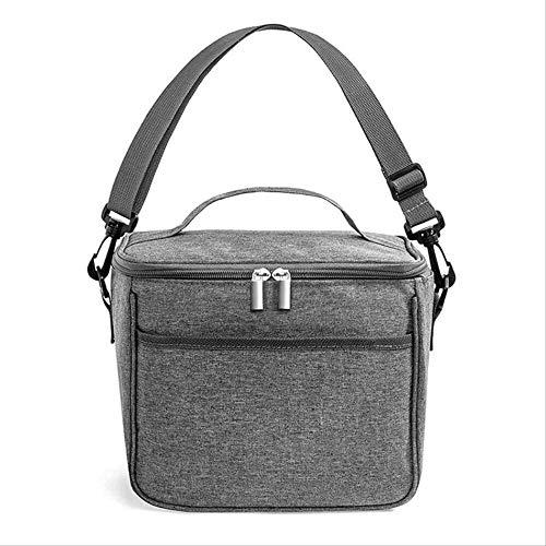 DUDDP Picknicktaschen Mittagessen-Behälter Träger Picknick Lagerung Oxford Cloth Isolierung Tasche Groß Kapazitäts-beweglicher bewegliche Bier-Dose Doppel EIS-Beutel Wilder Lunch Bag