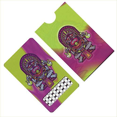 V-Syndicate Grinder Card - King Bong - Limited Edition - Die perfekte Mühle/Grinder/Reibe im Scheckkartenformat - Für Kräuter und Tabakwaren