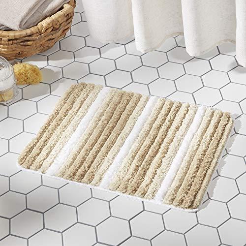 SoHome Striped Bathroom Rug Mat, Super Soft Extra Absorbent Shag Bath Mat Rug, Perfect Plush Carpet...