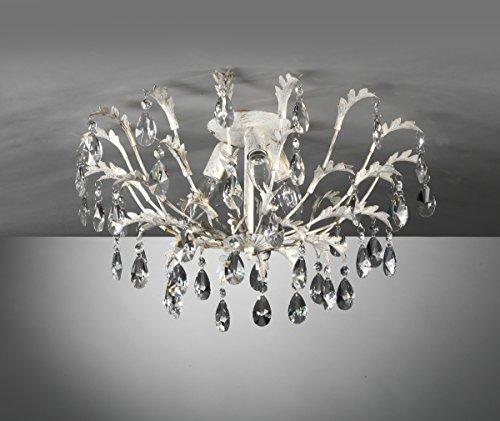 Onli Mand plafondlamp 3 lampen E14, 6 W, Ivoor/Goud, 55 x 30 cm