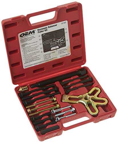 OEMTOOLS 27187 Harmonic Balancer Puller Kit | Works as Harmonic Balancer, Gear Pulley, Crank Shaft Pulley, & Steering Wheel Puller | Includes Bolts for GM 3300 & 3800 V6 Engines | Carrying Case