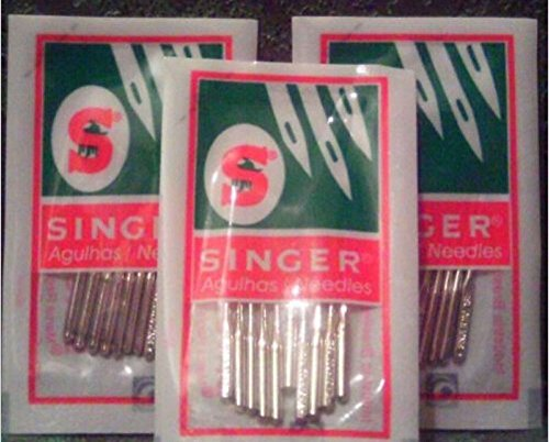 Singer (2045) Home Sewing Machine Needles Assorted Sizes # 9,14,16,18, 80 Pack