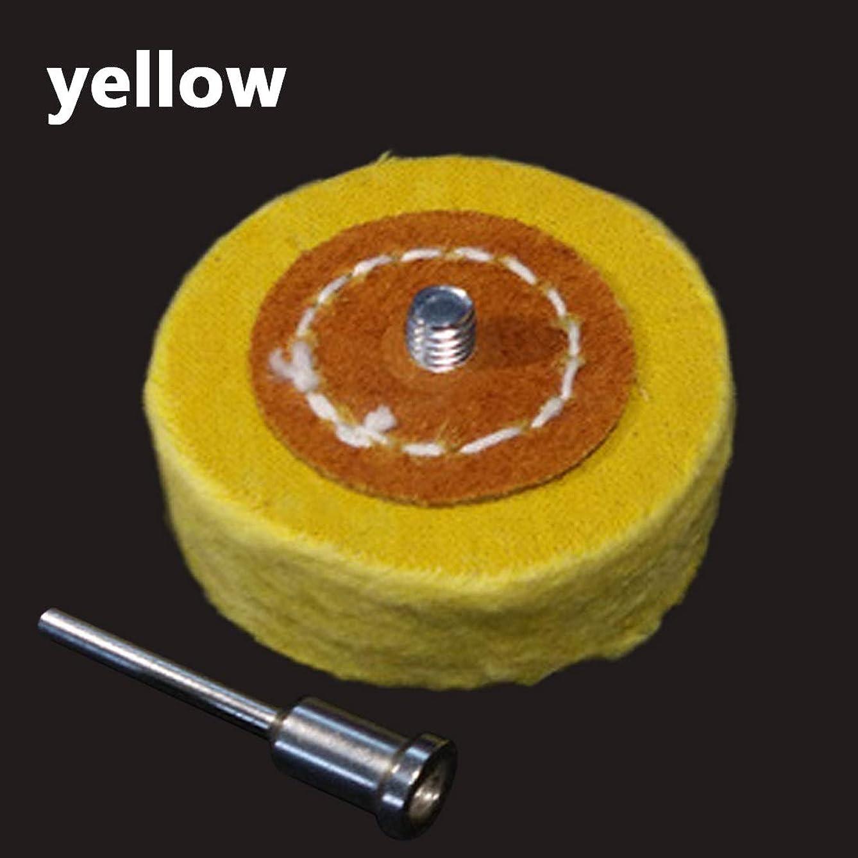 スタジオ手つかずのスペースXYDD Tスタイルポーランド磨く車輪研削ヘッドクロスホイールグラインダーブラシ用の回転研磨ツールアクセサリーシャンク (Color : Yellow)
