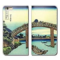 (ティアラ) Tiara iPhone6s (4.7) iPhone6s スマホケース 手帳型 ベルトなし 葛飾北斎 浮世絵 富嶽三十六景 手帳ケース カバー バンドなし マグネット式 バンドレス EB289030083104