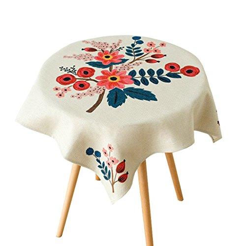 Table à manger Nappe en lin de coton Dust cover serviette TV chevet tissu de couverture Design peint à la main Épais et durable (Size : 140 * 230cm)
