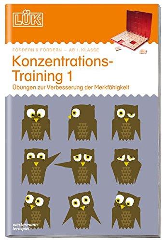 LÜK-Übungshefte: LÜK: 1./2./3./4. - Fördern & Fordern: Konzentrationstraining 1