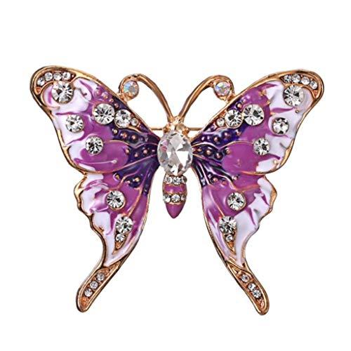 KLHHG Pintados Broche de Mariposa con Diamantes, Las señoras de la aleación de la Broche de Vestido Elegante de la decoración del Bolso de Accesorios Pin
