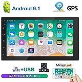 QiLiehu Android 9.1 7 Inch HD 2 Din Car Stereo Radio Bluetooth FM
