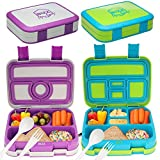 Bizz Bento Box Leakproof Meal Prep Lunchbox (2-Pack) with Reusable Fork-Spoon, Dishwasher ...