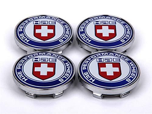 LIANGMAN 4Pcs 60mm Car HRE Sports Racing Wheel Center Caps Hub Cover Hub Cap Emblem Badge