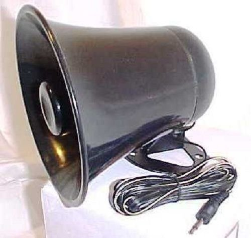 PA Horn Speaker w/Plug & Wire - 5 inch for CB/Ham Radio