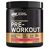 Optimum Nutrition ON Gold Standard Pre Workout Energy Drink Pulver mit Kreatin Monohydrat, Beta Alanin, L-Carnitin, natürliches Koffein und Vitamin B Komplex, Watermelon, 30 Portionen, 330g