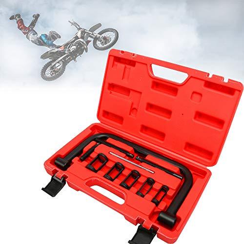 Hengda Ventilfederspanner Universal 10 teilig Spanner Federspanner Ventilfederspanner Kompressor Kit, mit Koffer, für Motoren und Motorräder