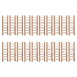 Yardwe 20 Pcs Mini Échelles Accessoires de Jardin de Fée Échelle en Bois Échelle Jouet Échelle Micro Paysage Accessoires pour Poupées Bricolage Maisons Miniature
