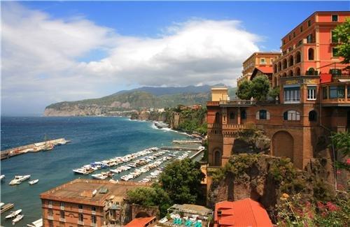 NAPLES SKYLINE GLOSSY POSTER PICTURE PHOTO italy napoli campania sea italia