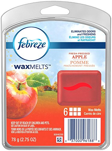 Febreze Wax Melts Fresh Pressed Apple Air Freshener (1 Count, 2.75 Oz), 0.172 Pound