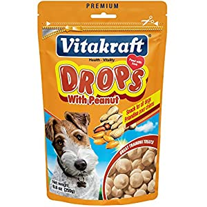 Vitakraft Drops Treats for Dogs, Bite-Sized Training Snacks, 8.8 Ounce Pouch