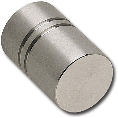 Bouton de porte ø 18 mm, profondeur 27 mm, brossé stainless acier