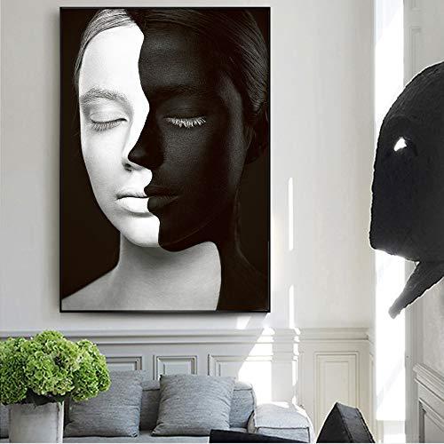 GJQFJBS Leinwanddruck Abstrakte Mädchen Kunstdrucke Wand Leinwand Malerei Poster Familie Wohnzimmer Dekoration Wandbild A4 60x90 cm