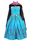 La Senorita ELSA Frozen Kostüm Krönung Eiskönigin Kostüm Prinzessinnen Kleid + Gratis Frozen...