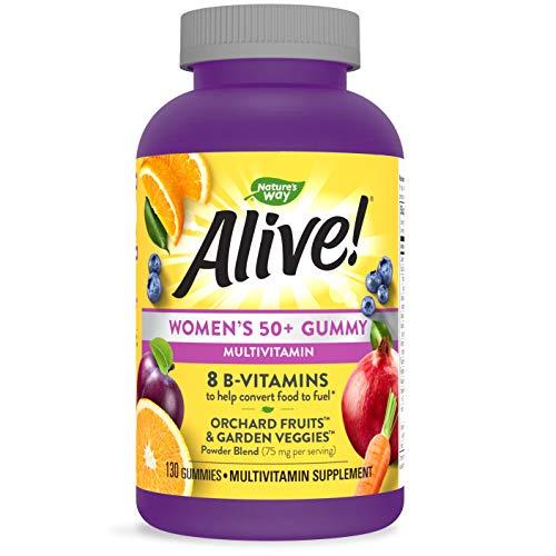 Nature's Way Alive! Women's 50+ Gummy Multivitamin, Full B Vitamin Complex, 130 Gummies