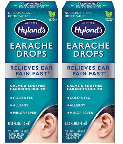 Ear Drops for Swimmers Ear, Hyland's Earache Drops for clogged ears,...