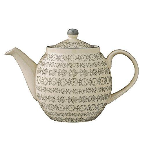 Bloomingville Teekanne Karine, grau, Keramik