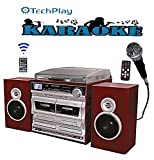 TechPlay ODCRK2110 BT,Karaoke,Turntable,W/Dual CD Player/Recorder,Dual Cassette Player/Rec...