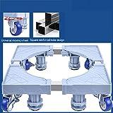 MSLYDYG Verstellbare Universal Tragbare Standfuß, Größe verstellbar Möbel bewegliche Basis mit 8 Locking Gummilenkrollen und 4 Feet Waschmaschine, für Waschmaschine Trockner und...