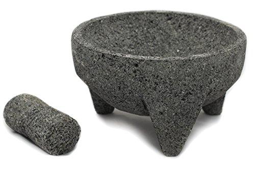 Tumia - Juego de mortero y estuche de lava mexicana (21 cm), Gris, 21 cm