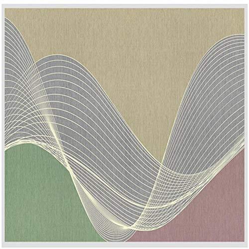 4D behang muurschilderingen, een moderne, minimalistische geometrische curve lijnen Hd-Art Print grootte fotobehang poster voor huis woonkamer slaapkamer bibliotheek muur decoratie, 76 × 108 in 190 cm (H) 112in×184in 280cm(H)×460cm(W)