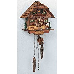 Schneider 75/9 10 Antique Stained Chalet Cuckoo Clock with Woodchopper
