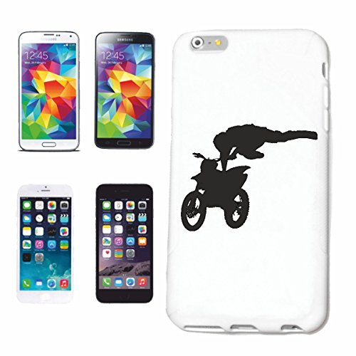 Reifen-Markt Funda para teléfono móvil compatible con Samsung Galaxy S6, silueta de motocross, 125 cm³, motocross, freestyle, motocross, moto, bicicleta, M