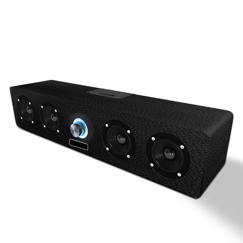 Meele TV Barra de Sonido con Subwoofer Bluetooth Altavoz 20W Columna portátil Equipo de Sonido Altavoz Radio FM TF Aux subwoofer televisión Barra de Sonido Caja de Sonido Ordenador,Negro: Amazon.es: Hogar