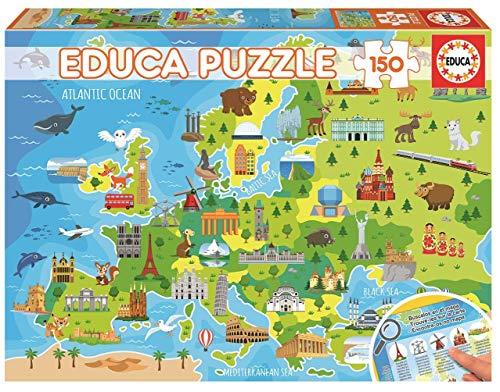 Oferta de Educa - Mapa Europa Puzzle, 150 Piezas, Multicolor (18607)