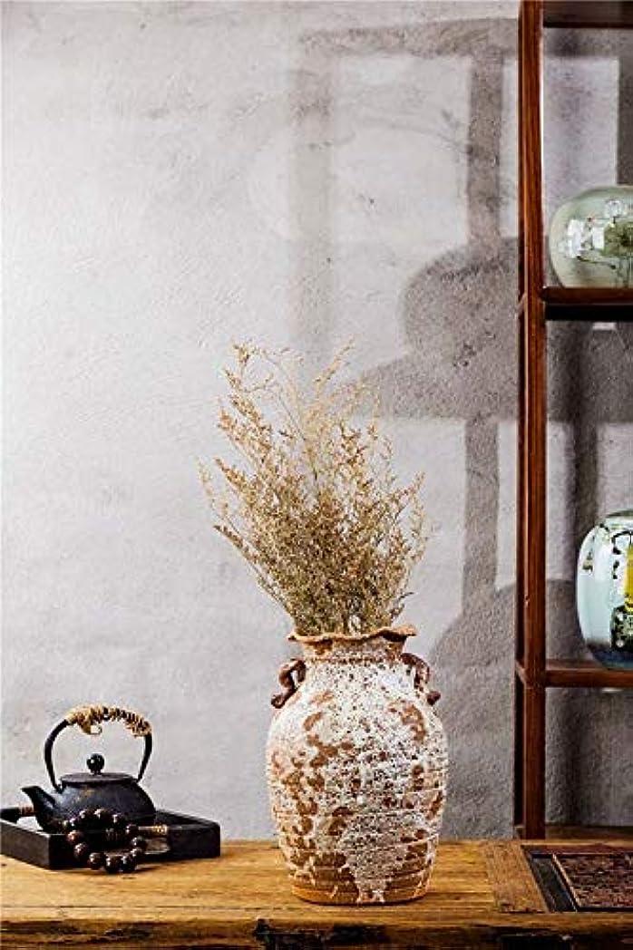 男性小間面倒手作りの陶器アンティーク古い陶器の瓶ホワイトスプラッシュGla薬クラシックアートシリンダー素朴な家の装飾